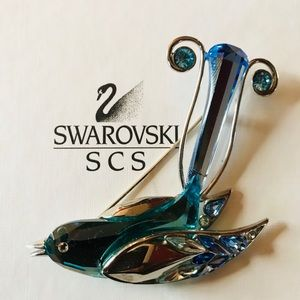 Signed Swarovski Crystal Brooch